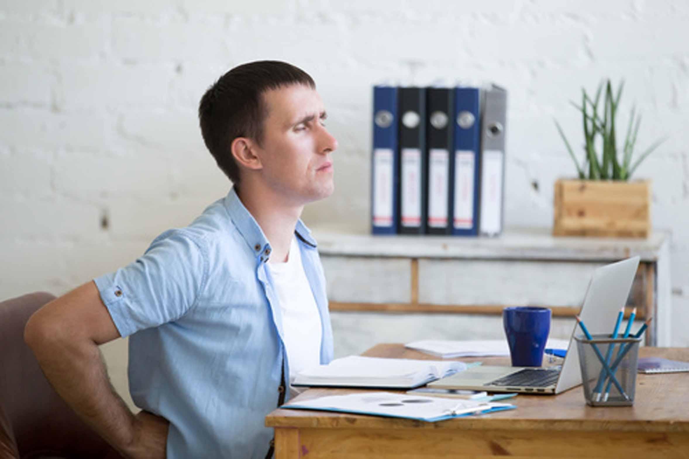 Rückenschmerzen am Schreibtisch